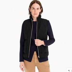 NWT J Crew Quilted Puffer Vest SZ L Black